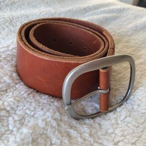 Banana Republic Cognac Wide Belt Medium Leather